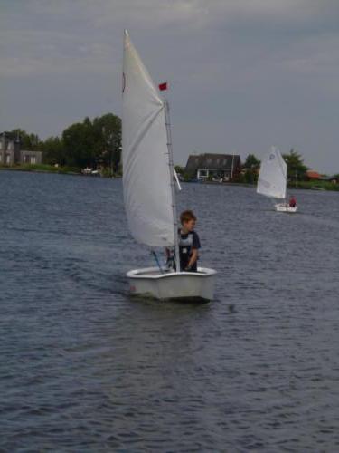 Regata am kleinen Meer  Opti mit Thalea und Jan Dirk  Thalea machte den 6 Platz Jan Dirk den 2 Platz (11)