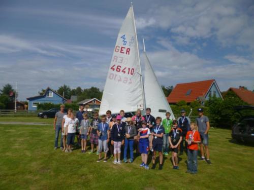 Regata am kleinen Meer  Opti mit Thalea und Jan Dirk  Thalea machte den 6 Platz Jan Dirk den 2 Platz (21)