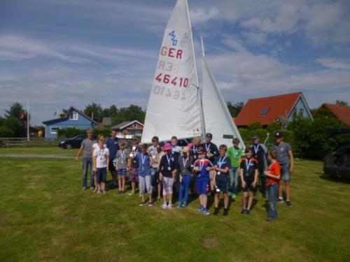 Regata am kleinen Meer  Opti mit Thalea und Jan Dirk  Thalea machte den 6 Platz Jan Dirk den 2 Platz (23)