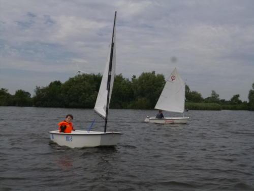 Regata am kleinen Meer  Opti mit Thalea und Jan Dirk  Thalea machte den 6 Platz Jan Dirk den 2 Platz (8)